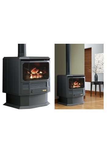 Free Standing Archer Gas Fire with Top Flu