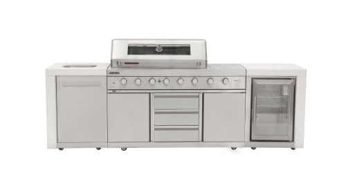 Grand Royale White with BBQ-Sink-Single Fridge