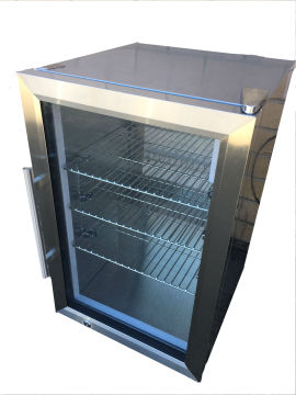 Compact stainless steel bar fridge 63L