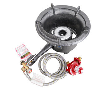 Single ring high pressure burner with manual ignition