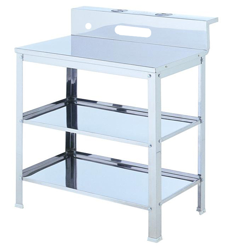 Oz stainless steel shelf trolley