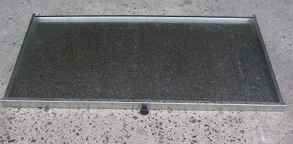 Aus made galvanised drip tray