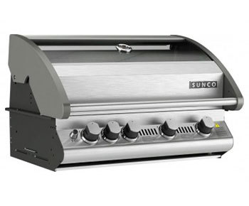 SC58P: 4 Burner Sunco Vitreous Enamel Build-In BBQ with Stainless Steel Roast Hood
